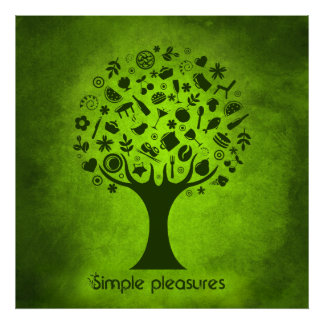 Simple Pleasures Tree Poster