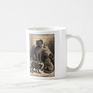 Simple Pleasures Woodcut Dogs In Alley Coffee Mug