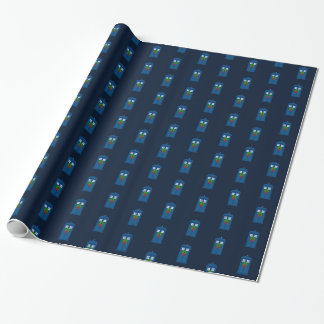 """Simple Police Box with Wreath"" (Small Pattern) Wrapping Paper"