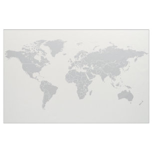 Map fabric zazzle simple political world map fabric wall hanging gumiabroncs Gallery