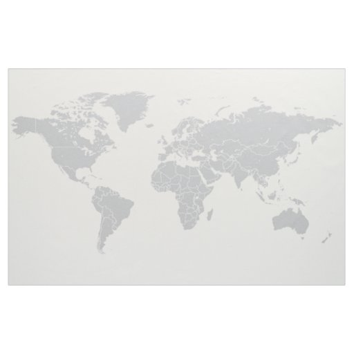 Simple political world map fabric wall hanging zazzle simple political world map fabric wall hanging gumiabroncs Images