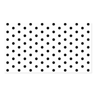 Simple Polka Dot Black and White Pattern Business Card Template