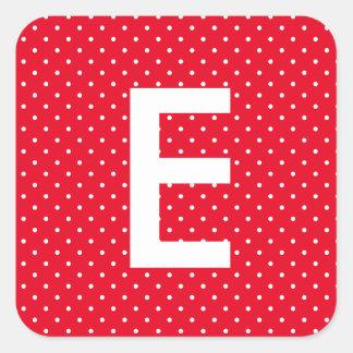 Simple Polka Dot Monogram Sticker