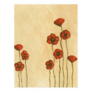 Simple Poppies Postcard