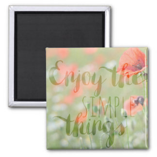 Simple Poppy Magnet