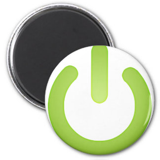 Simple Power Button 2 Inch Round Magnet