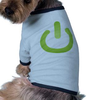 Simple Power Button Dog T Shirt