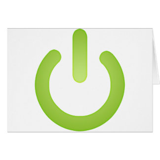 Simple Power Button Greeting Card