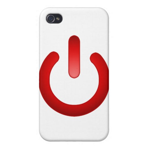 Simple Power Button iPhone 4/4S Cover