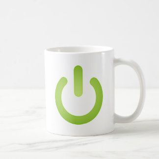 Simple Power Button Classic White Coffee Mug
