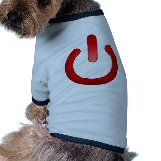 Simple Power Button Pet T Shirt