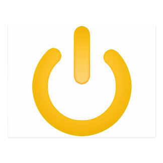 Simple Power Button Postcard