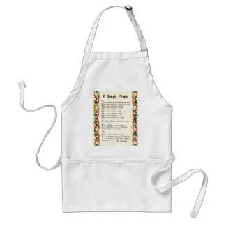 simple prayer by St. Francis of Assisi Adult Apron