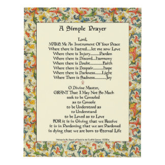 Simple Prayer For Simple Pope Francis St. Francis Panel Wall Art