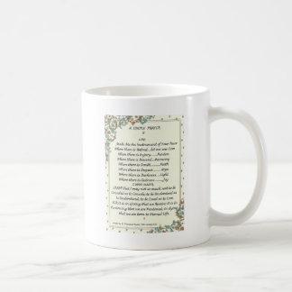 simple prayer=st. francis=pope francis=florentine coffee mug