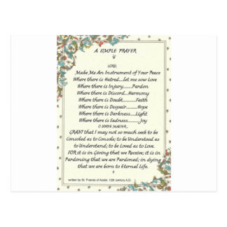 simple prayer=st. francis=pope francis=florentine post cards