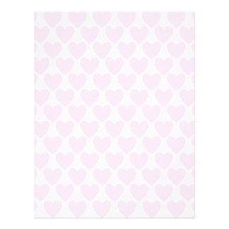 Simple Pretty Pink Polka Heart Wallpaper Pattern Letterhead