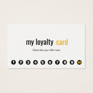 Simple Professional 10 Punch Customer Loyalty Card