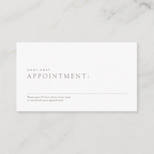 Appointment business cards templates zazzle simple professional appointment reminder colourmoves Images