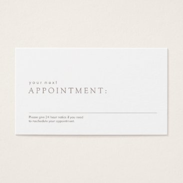 sm_business_cards Simple Professional Appointment Reminder Business Card