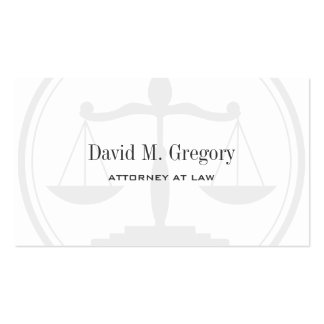 Simple Professional Attorney Lawyer Law Firm Double-Sided Standard Business Cards (Pack Of 100)
