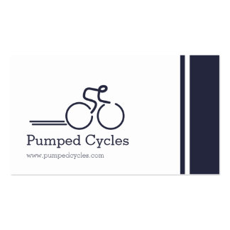 Simple professional bicycle business cards