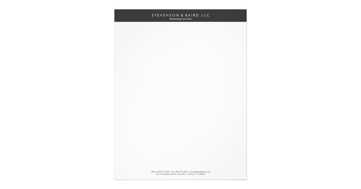 Simple Professional Black and White Letterhead – Professional Letterhead