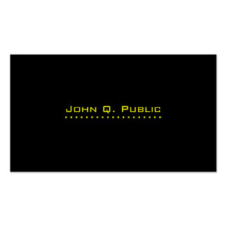 Simple Professional Black Double-Sided Standard Business Cards (Pack Of 100)
