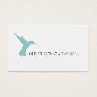 Simple Professional / Blue Bird Icon Business Card
