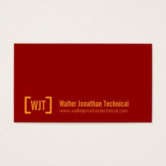 Simple professional dark red orange business cards