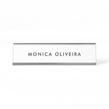 Simple Professional Desk Name Plate
