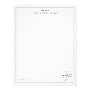 Attorney letterhead zazzle simple professional lawyer letterhead spiritdancerdesigns Gallery
