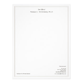 Simple Professional Lawyer Letterhead at Zazzle