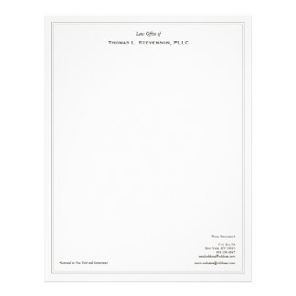 Simple Professional Lawyer Letterhead