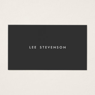 Simple Professional Modern Black Business Card at Zazzle