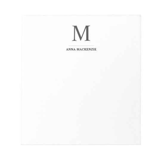 06c22552e250 Simple Professional Modern Classic Monogram Notepad