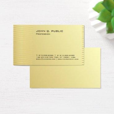 Beach Themed Simple Professional Modern Gold Signature UV Matte Business Card