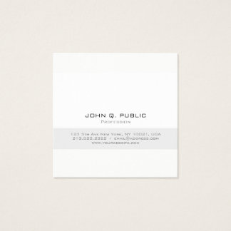 Simple Professional Modern Minimalist Square Matt Square Business Card
