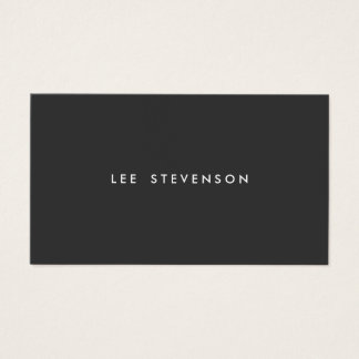 Simple Professional Modern Simple Black Business Card
