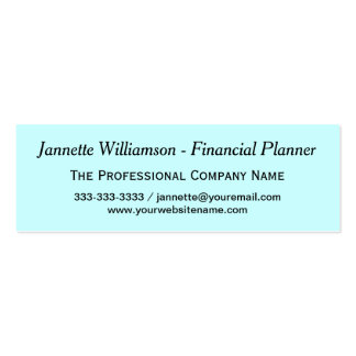 Simple Professional Networking Hello Mini Business Card