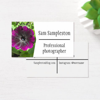Simple professional photographer business cards