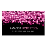 Simple Professional Pink Lights & Sparkles Double-Sided Standard Business Cards (Pack Of 100)
