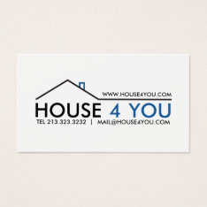 Simple Professional Real Estate Business Card at Zazzle