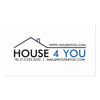 Simple Professional Real Estate Double-Sided Standard Business Cards (Pack Of 100)