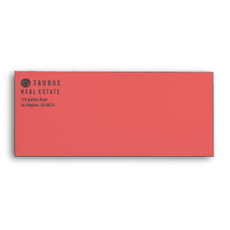 Simple Professional Red Letterhead Envelope