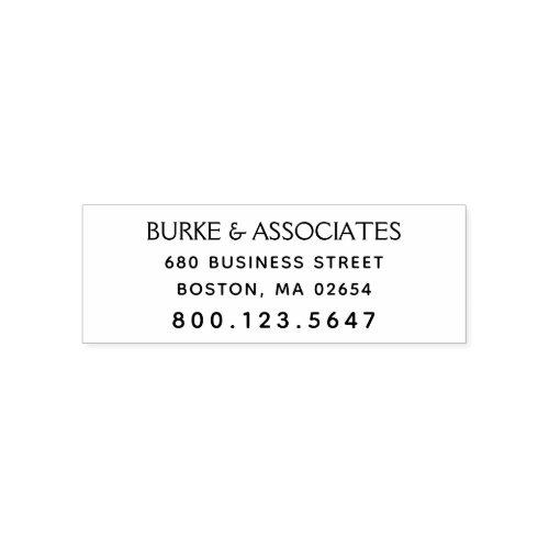 Simple Professional Return Address Phone Self_inking Stamp