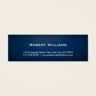 Simple Professional Skinny Business Cards