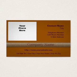 Simple Professional with Photo Pumpkin Pie Orange Business Card