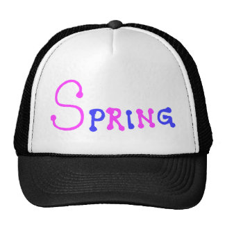 Simple purple and pink spring trucker hat
