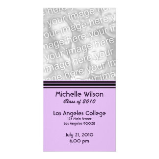 simple purple black graduation card